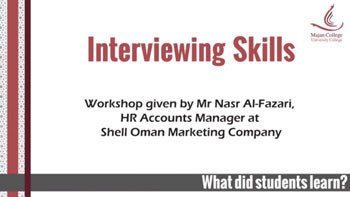 Interviewing skills Workshop