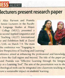 MUC lecturers present research paper