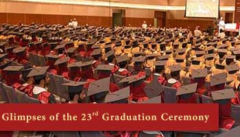Glimpses of the 23rd Graduation Ceremony, 2018